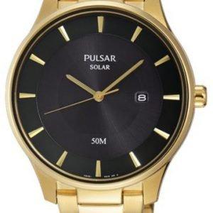 Pulsar Dress Px3102x1 Kello Musta / Kullansävytetty Teräs