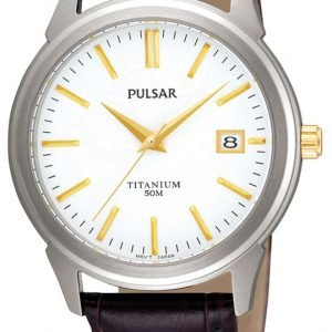Pulsar Dress Pxha21x1 Kello Valkoinen / Nahka