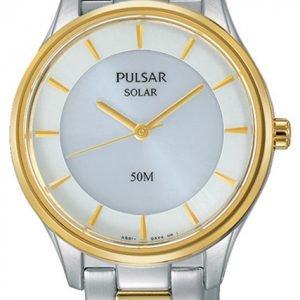 Pulsar Dress Py5020x1 Kello Valkoinen / Kullansävytetty Teräs