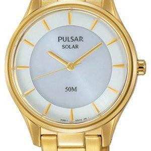 Pulsar Dress Py5022x1 Kello Valkoinen / Kullansävytetty Teräs