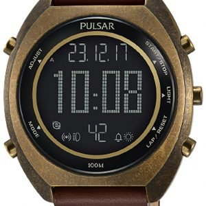 Pulsar Pulsar X P5a030x1 Kello Lcd / Nahka