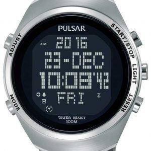 Pulsar Pulsar X Pq2055x1 Kello Lcd / Teräs