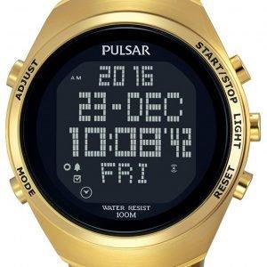 Pulsar Pulsar X Pq2056x1 Kello Lcd / Kullansävytetty Teräs