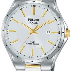Pulsar Solar Px3141x1 Kello Hopea / Kullansävytetty Teräs
