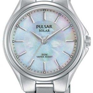 Pulsar Solar Py5031x1 Kello Valkoinen / Teräs