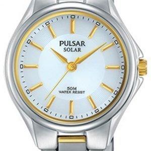 Pulsar Solar Py5035x1 Kello Hopea / Kullansävytetty Teräs