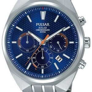 Pulsar Solar Pz5007x1 Kello Sininen / Teräs