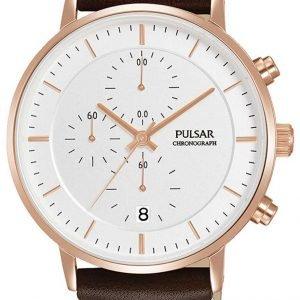 Pulsar Sport Pm3082x1 Kello Valkoinen / Nahka