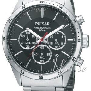 Pulsar Sport Pt3005x1 Kello Musta / Teräs