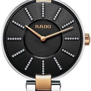Rado Coupole R22850713 Kello Musta / Punakultasävyinen