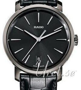 Rado Diamaster R14072175 Kello Musta / Nahka