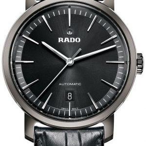 Rado Diamaster R14074175 Kello Musta / Nahka