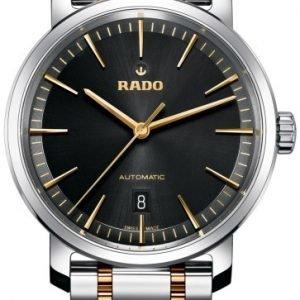 Rado Diamaster R14077163 Kello Musta / Kullansävytetty Teräs