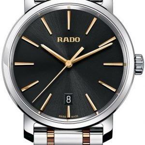 Rado Diamaster R14078163 Kello Musta / Kullansävytetty Teräs