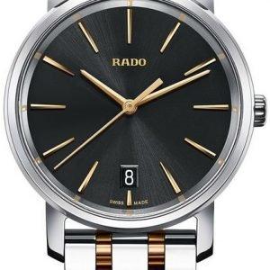 Rado Diamaster R14089163 Kello Musta / Kullansävytetty Teräs