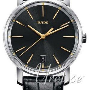 Rado Diamaster R14089165 Kello Musta / Nahka