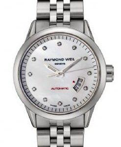 Raymond Weil Freelancer 2430-St-97081 Kello Valkoinen / Teräs