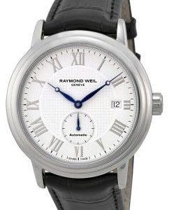 Raymond Weil Maestro 2838-Stc-00308 Kello Valkoinen / Nahka