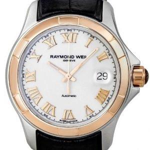 Raymond Weil Parsifal 2970-Sc5-00308 Kello Valkoinen / Nahka