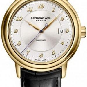 Raymond Weil Raymond Maestro 12837-G-05658 Kello Hopea / Nahka