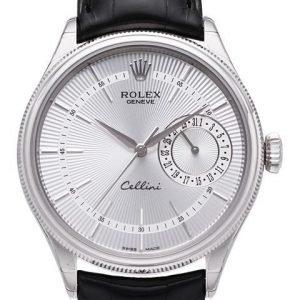 Rolex Cellini Date 50519-0006 Kello Hopea / Nahka