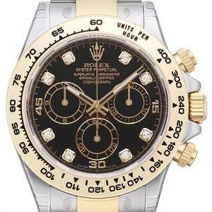 Rolex Cosmograph Daytona 116503-0008 Kello Musta / 18k