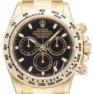 Rolex Cosmograph Daytona 116508-0004 Kello Musta / 18k