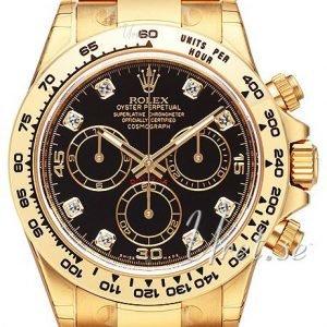 Rolex Cosmograph Daytona 116508-0008 Kello Musta / 18k