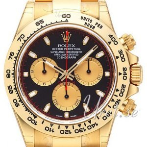 Rolex Cosmograph Daytona 116508-0009 Kello Musta / 18k