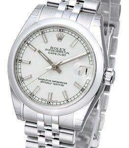 Rolex Datejust 31 178240-0015 Kello Valkoinen / Teräs