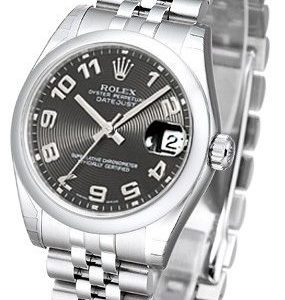 Rolex Datejust 31 178240-0019 Kello Musta / Teräs