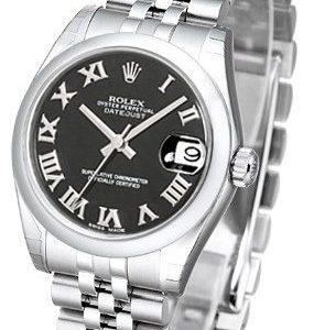 Rolex Datejust 31 178240-0035 Kello Musta / Teräs