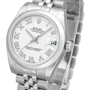 Rolex Datejust 31 178240-0038 Kello Valkoinen / Teräs
