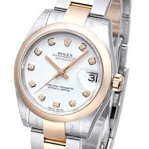 Rolex Datejust 31 178241-0010 Kello Valkoinen / Teräs