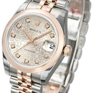 Rolex Datejust 31 178241-0040 Kello Hopea / Teräs