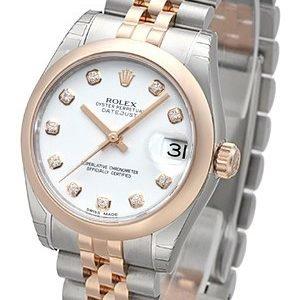 Rolex Datejust 31 178241-0048 Kello Valkoinen / Teräs