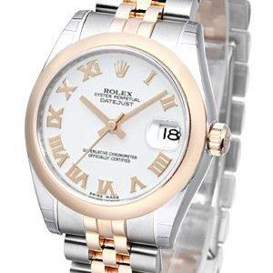 Rolex Datejust 31 178241-0062 Kello Valkoinen / Teräs