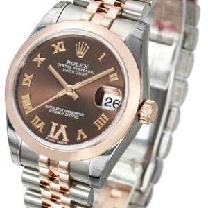 Rolex Datejust 31 178241-0070 Kello Ruskea / Teräs
