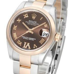 Rolex Datejust 31 178241-0074 Kello Ruskea / Teräs