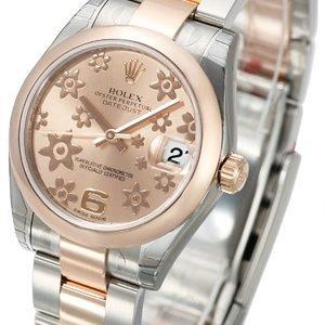 Rolex Datejust 31 178241-0075 Kello Pinkki / Teräs