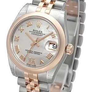 Rolex Datejust 31 178241-0076 Kello Valkoinen / Teräs