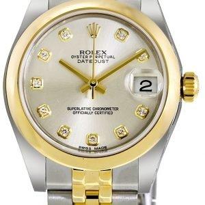 Rolex Datejust 31 178243-0041 Kello Hopea / Teräs