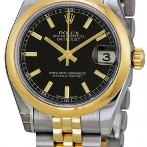 Rolex Datejust 31 178243-0050 Kello Musta / Teräs