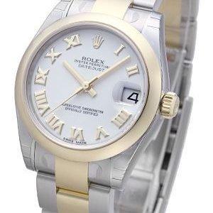 Rolex Datejust 31 178243-0066 Kello Valkoinen / Teräs