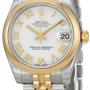 Rolex Datejust 31 178243-0067 Kello Valkoinen / Teräs