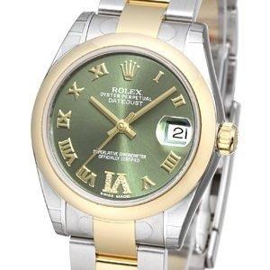 Rolex Datejust 31 178243-0076 Kello Vihreä / Teräs