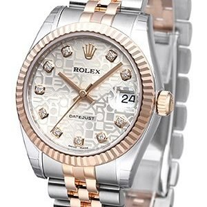 Rolex Datejust 31 178271-0024 Kello Hopea / Teräs