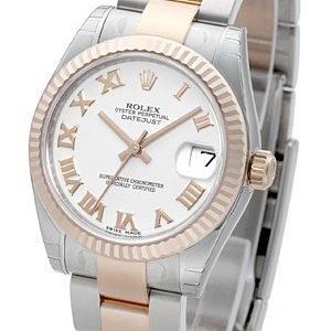 Rolex Datejust 31 178271-0066 Kello Valkoinen / Teräs