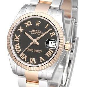 Rolex Datejust 31 178271-0069 Kello Musta / Teräs