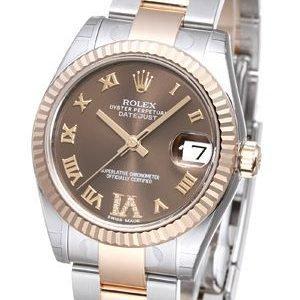Rolex Datejust 31 178271-0075 Kello Ruskea / Teräs